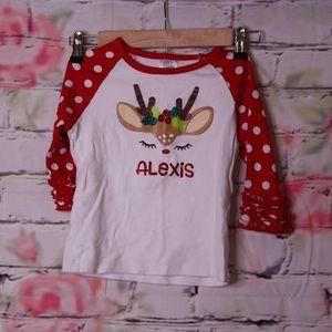 Adorable Reindeer Shirt. Size 5T.